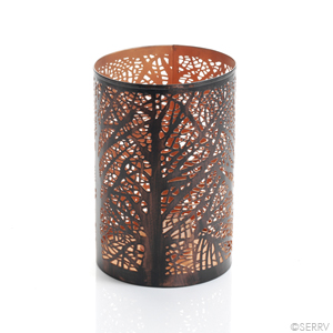 Tree of Life Iron Lantern