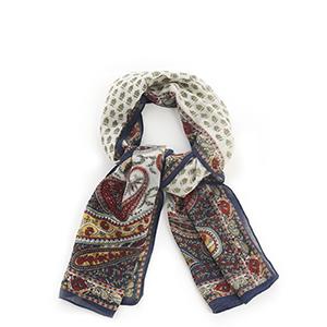 Paisley Print Wool Scarf
