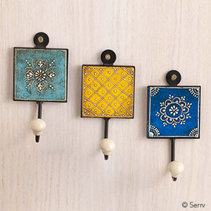 Wood Tile Wall Hooks