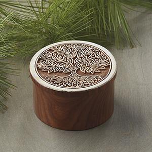 Tree of Life Block Print Box
