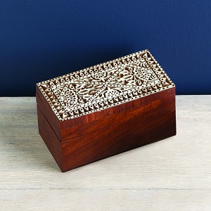 Block Print Rectangular Box