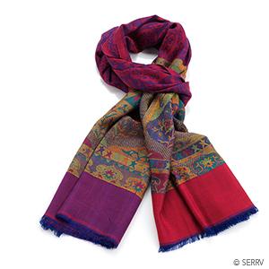 Kashmiri Shawl - Red Violet Kani Pala