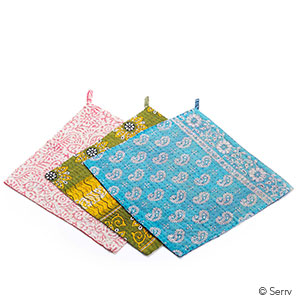Kantha Dishcloths Set