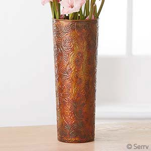 Hammered Ironwork Tall Cylinder