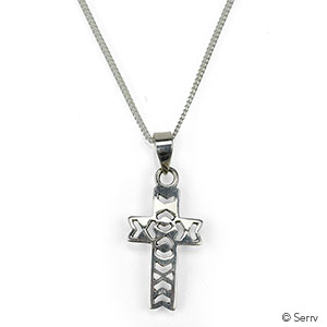 Chevron Cross Pendant