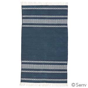 Blue Chevron Stripe Rug