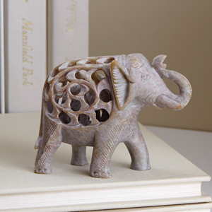 Double-Carved Gorara Elephant