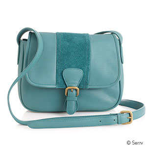 Kolkata Leather Purse with Suede