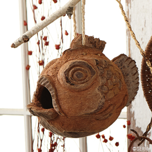 Coconut Fish Birdhouse