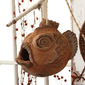 Coconut Fish Birdhouse