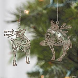 Filigree Reindeer Ornaments