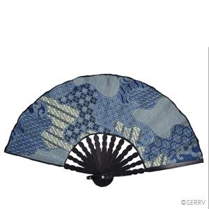Blue Batik Fan