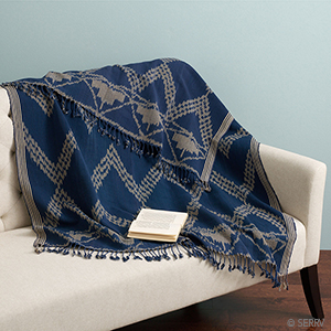 Zigzag Ikat Throw