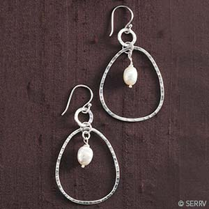 Enchanted Pearl Hoop Earrings