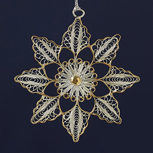 Bright Flower Filigree Ornament