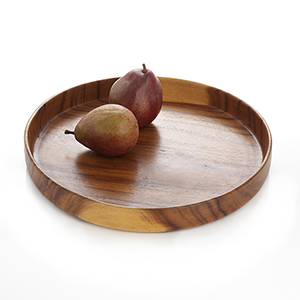 Suar Wood Large Round Tray