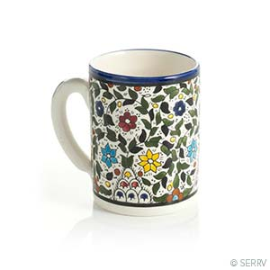 West Bank Blue Floral Mug