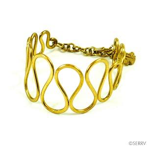 Oval Loops Brass Bracelet