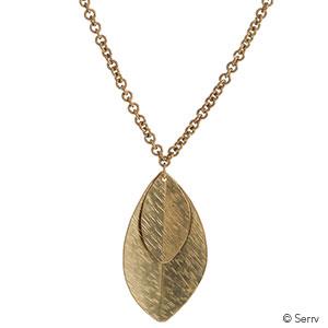 Double Leaf Long Necklace