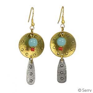 Trinity Stamped Earrings