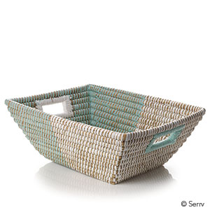 Mint & Natural Handled Baskets