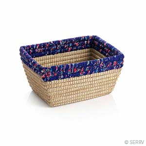 Purple Chindi Rim Rectangle Basket