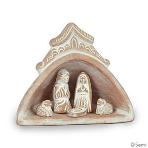 Domed Terra-Cotta Nativity