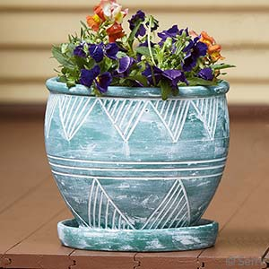 Medium Green Garden Pot