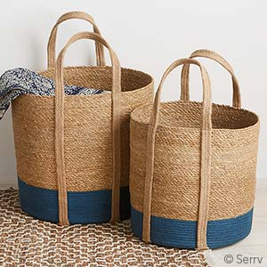 Two-Tone Nesting Floor Totes