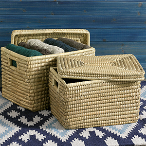 Nesting Kaisa Grass Baskets  - Set of 2