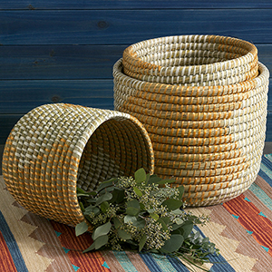 Seashore Nesting Baskets (XL) Set of 3