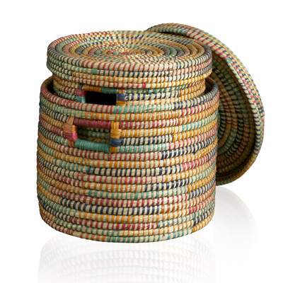 Round Rainbow Baskets - Set of 2