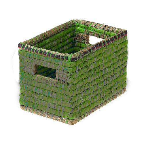 Small Green Chindi Basket