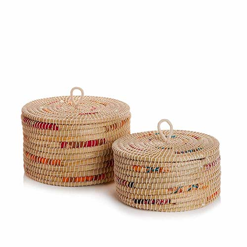 Small and Medium Chindi Stripe Baskets  (XL) Set of 2