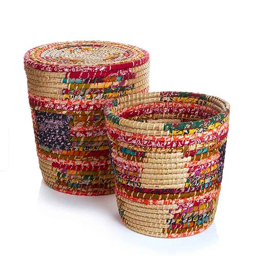 Pop Top Chindi Baskets (XL) - Set of 2
