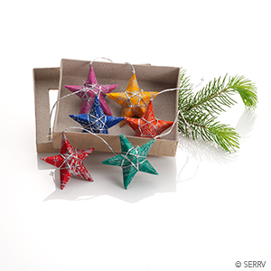 Wishing Stars Ornaments - Set of 6
