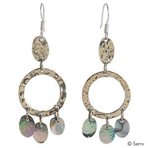 Abalone Triple-Drop Earrings