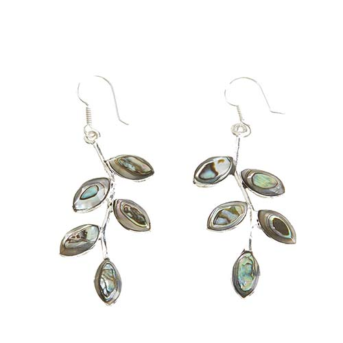 Abalone Vine Earrings