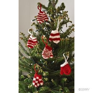 Mini Mittens Ornament Set