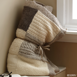 Neutral Patchwork Throw