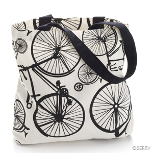 Bicycle Print Tote