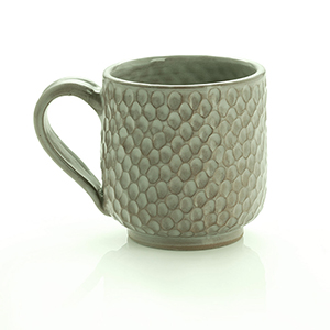 Leaf Green Honeycomb Mug