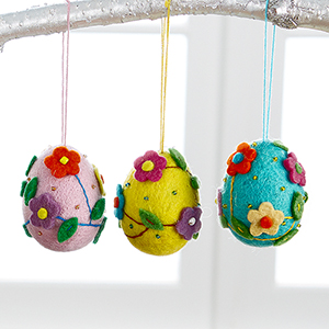 Felted Egg Ornaments