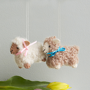 Woolly Lamb Ornament Set