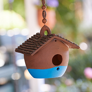 Nepali Birdhouse - Blue Base