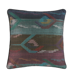 Dhaka Weave Wide Stripe Square Pillow