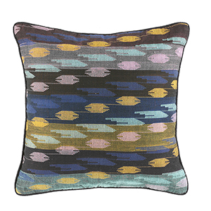 Dhaka Weave Stepped Stripe Square Pillow