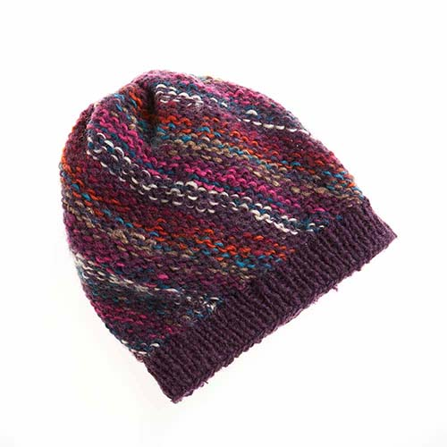 Jewel-Stripe Slouchy Hat