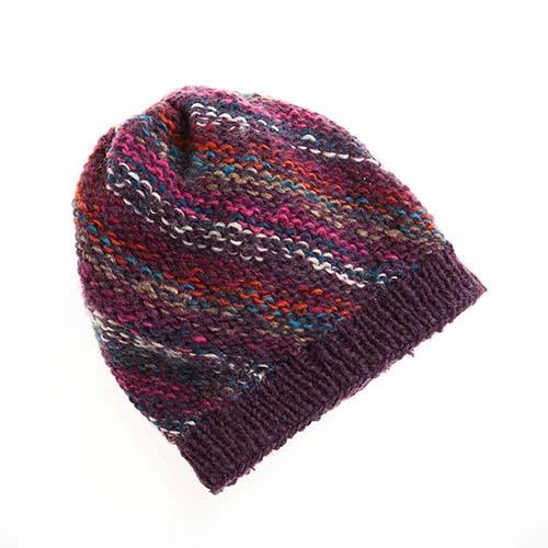 Jewel-Stripe Slouchy Hat