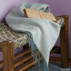 Alpaca Throw - Blue Diamond